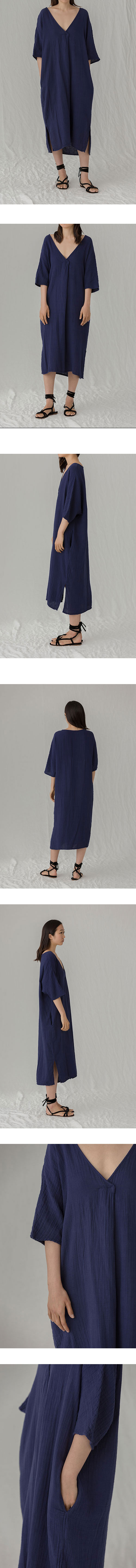 COTTON GAUZE SAN DRESS, ASTRAL NAVY
