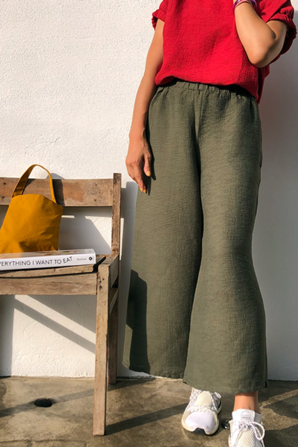 LA제작 / IM band pants PL(khaki)_당일배송