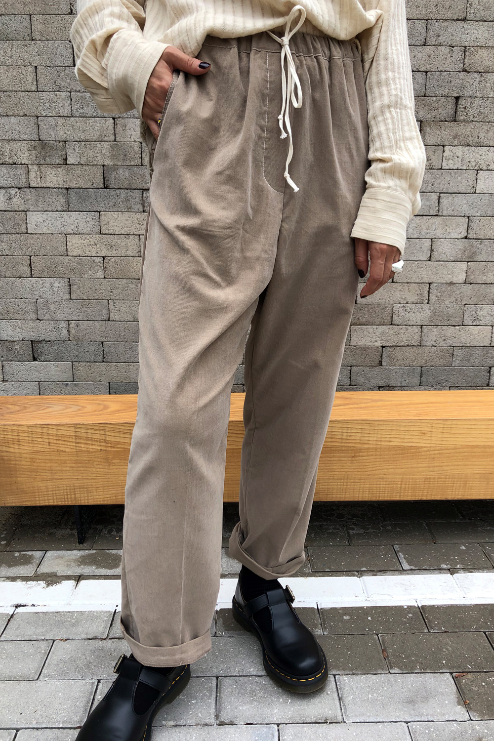 CORDUROY STITCH PANTS